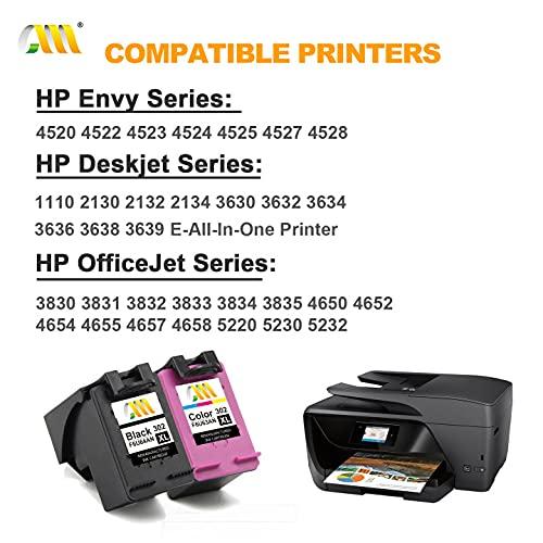 CMCMCM Remanufactured HP 302 302XL Cartucho de Tinta para Envy 4527 4520 4523 4524 DeskJet 3630 2132 2130 3636 3637 3634 3639 OfficeJet 3831 4658 4650 3830 Impresora, Negro & Colour