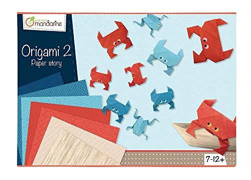 Avenue Mandarine 42721O Kreativbox Origami (für eine perfekte Einführung in Origami Welt, ideal für Kinder ab 7 Jahren) 1 Pack