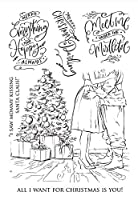 クリスマス透明クリアシリコンスタンプ/DIYスクラップブッキング用シール/フォトアルバム装飾用クリアスタンプシートA2152