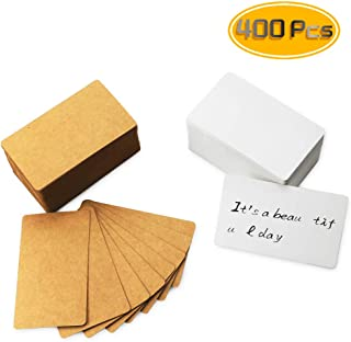 Yexpress 400pcs Retro Blank Kraft Note Paper Business Cards Vocabulary Word Card Message Card DIY Gift Card Blank Paper Tags