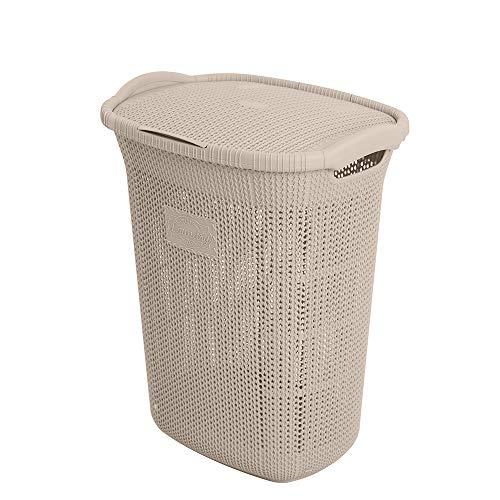 Inbagno Porta Biancheria Tortora in Plastica 65 Litri Ideale per la Lavanderia