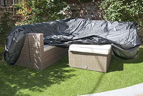 Speedwellstar Tuinmeubelen van 2 maten Ademend Kwaliteit Fitted Rechthoek Elastische Tafel 4-6 Zitplaatsen Patio Eetset Groot Large Zwart