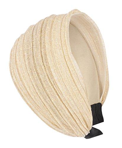 axy HR30A Haarreif Serie 30A Hair Band mit Glitzerfäden (Elfenbeinfarbe)