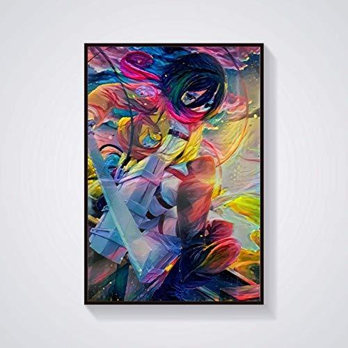 KWzEQ Leinwanddrucke Anime Charaktere für Artworkon Posterhome Dekor Wohnzimmer50x60cmRahmenlose Malerei
