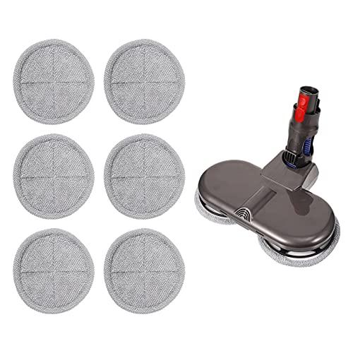 BESPORTBLE Elektrische Mop Hoofd Attachment Droog en Nat Mop Reinigingskop met 6 STKS Stofdoek Compatibel voor V11 V10…