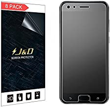 J&D Compatible for 8-Pack ZenFone 4 Pro Screen Protector, [Anti-Glare] [Anti-Fingerprint] [Not Full Coverage] Matte Film Shield Screen Protector for ASUS ZenFone 4 Pro (ZS551KL) Matte Screen Protector