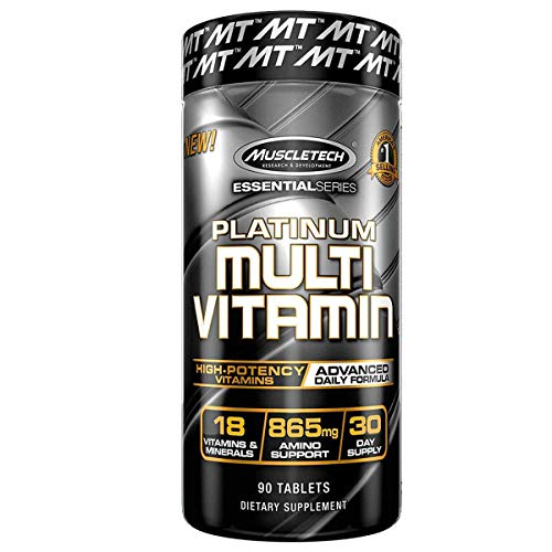 Muscletech Multivitamin for Mens & Womens Multivitamins, Unflavored, 90 Count