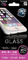 ELECOM iPhone 6s Plus/6 Plus 対応 液晶保護ガラス フレーム付 ピンク PM-A15LFLPGGOPN