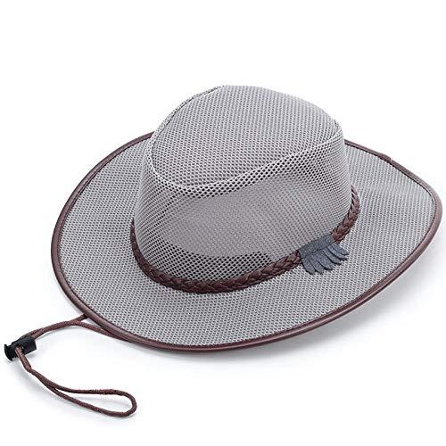 CHOUE Sonnenhut Herren mit Hutband Strohhut Für Männer Khaki