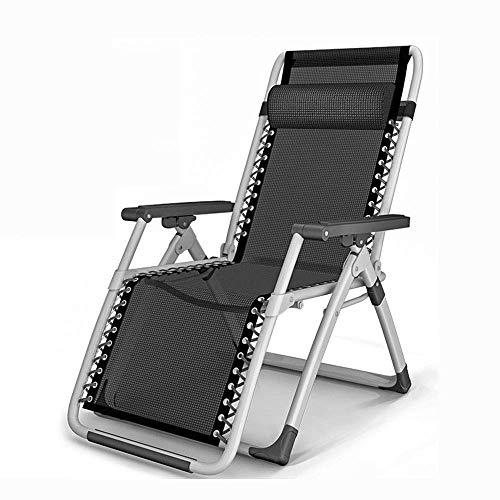 FHISD Patio Lounge Chairs Sonnenliegen, Zero Gravity Recliner Gepolsterter Patio Lounger Chair mit Verstellbarer für Outdoor Beach Camping Chair,