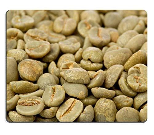 Mauspad Naturkautschuk Mousepad Hintergrund Textur von grünen ungerösteten Kaffeebohnen Bild-ID 14559713