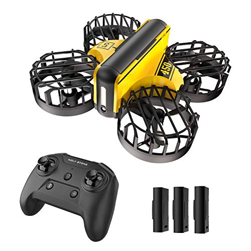 Holy Stone HS450 Mini Drone, Hand Operated and Remote Control Nano Quadcopter for Kids, with 3 Batteries, Throw to Go, Flips, Obstacle Avoidance, Circle Flying, Altitude Hold, Christmas Gifts and Toys