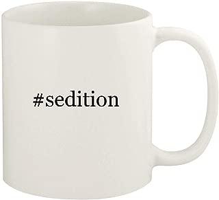 #sedition - 11oz Hashtag Ceramic White Coffee Mug Cup, White