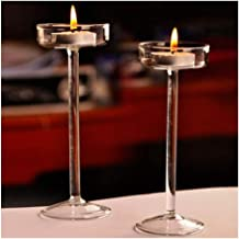 Candle Holders High Candle Holder Glass Candle Holder Crystal Candle Holders (Color : 15CM)
