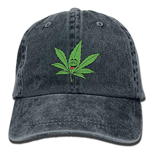 Hoswee Baseballmütze Hüte Kappe Ganja Leaf Weed Smokers Plain Adjustable Cowboy Cap Denim Hat for Women and Men