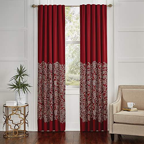 Croscill Adriel Curtain Panel Pair, Red