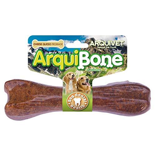 ARQUIVET - Arquibone Queso 20 cm - 95 g- Hueso grande para perros - Snack natural para perros - Hueso para masticar - Alimento complementario para perros
