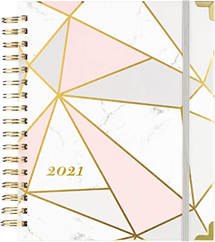 "2020 Planner - Weekly & Monthly Planner with Gift Box, Thick Paper, 8"" x 10"", Back Pocket with 15 Notes Pages + 12 Monthly Tabs"