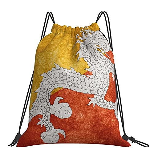Drawstring Backpack Vintage Red Yellow Dragon Flag String Storage Bags Sports Yoga Gym Travel Swimming Sackpack For Men Women Girls