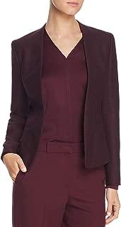 Hugo Boss Womens Jalesta Plaid Wool Blend Open-Front Blazer