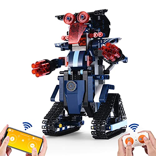 STEM Projects for Kids Ages 8-12,TekHome Toys for 8-16 Year Old Boys,Science Kits Engineering Gifts for Teenager,Compatible with Lego Robots for Kids 8-12,Building Robot Kit with Remote Control & APP