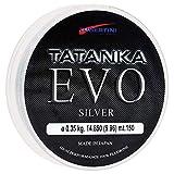 Tubertini Hilos de Pesca Tatanka EVO Silver 0.14 mm 150 m Fluorine Spinning Surfcasting Boloñesa