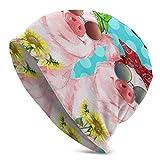 Photo de TGSCBN Soul Sisters Pigs Knit Beanie Hat Unisex Breathable Warmer Winter Hats Elasticity Skull Cap Stylish Cap Lightweight Soft Skullcap Headwear for Men Women Adults White