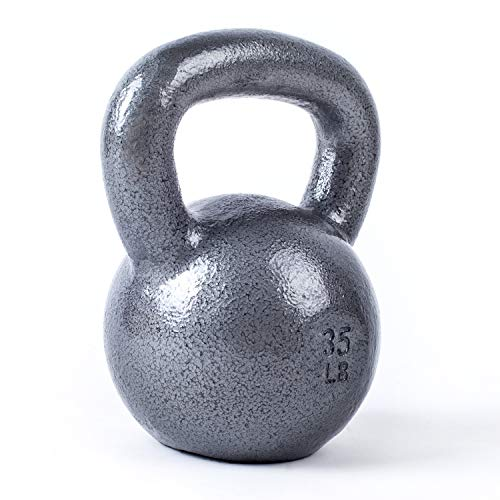 WF Athletic Supply Hammerstone Cast Iron Kettlebell - 13, 10-80 Pounds - Core Strength, Functional Fitness, and Weight Training Set - Free Weight, Equipment, Accessories (f. 35 LB)