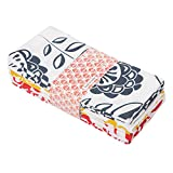 Candy Cottons Kitchen Dish Towels, 100% Cotton Extra Large Tea Towels, Flower Printed, Pack of 6...