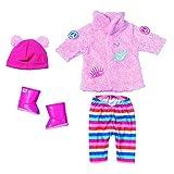 Zapf Creation 826959 BABY born Trend Glitzer Mantel Set, Puppenkleidung 43 cm, bunt mit Glitzer