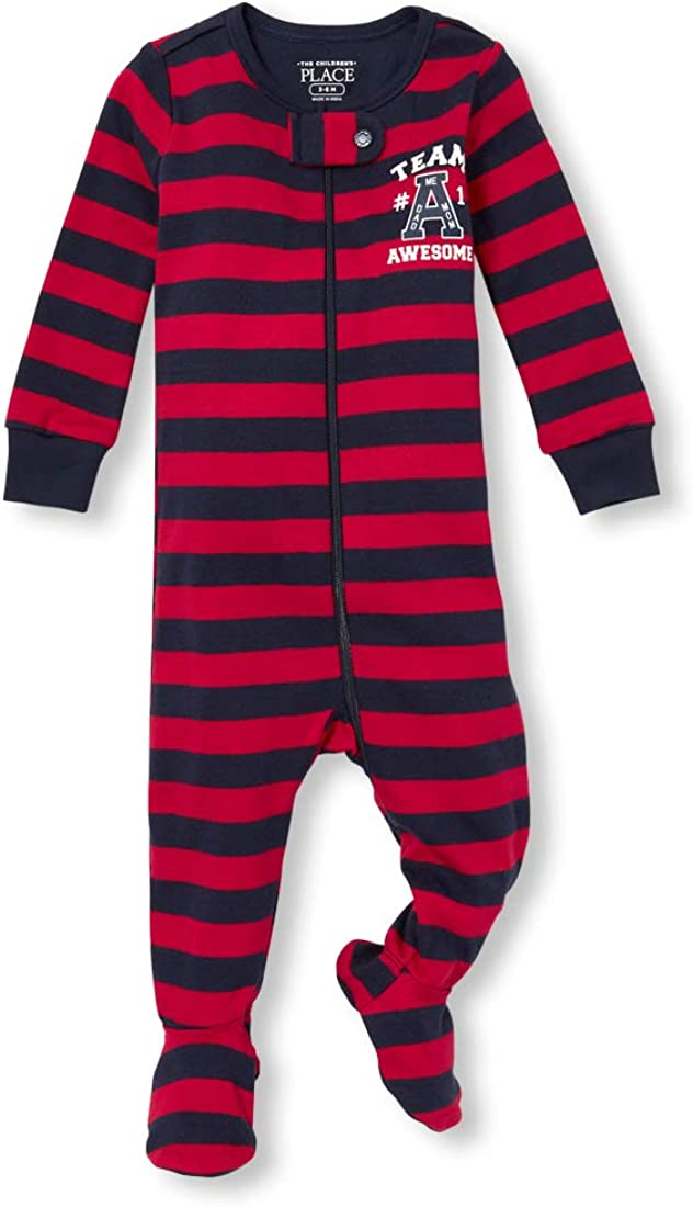 The Children's Place Baby Boys Striped Pajama Stretchies