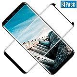 TOCYORIC Protector Pantalla Galaxy S8 Plus, Cristal Templado Samsung S8 Plus [Cobertura Completa] [2 Unidades] [Dureza 9H] [Anti-Arañazos] [Sin Burbujas] Templado Galaxy S8 Plus Protector Pantalla