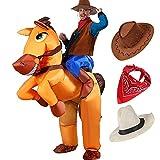 Tacobear Aufblasbare Pferdkostüm für Erwachsene Aufblasbare Karneval Fasching Kostüm Trag Mich...