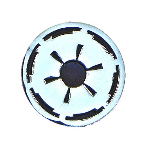 Metall-Emaille-Anstecker Star Wars (Starwars) Galaktisches Imperial-Wappen (Chrom & Schwarz)