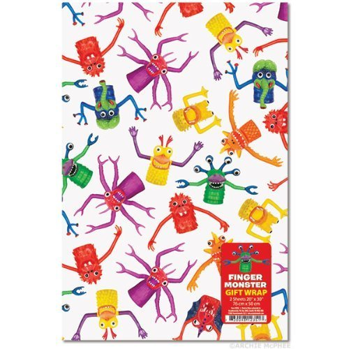 Accoutrements Finger Monster Gift Wrap