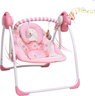 comprar comparacion VASTFAFA Hamaca para Bebes, Eléctrica Mecedora para Bebés,Balancín Columpio Hamaca Plegado con mosquitera,16 melodías,6 ve...