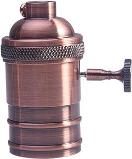 Portalámparas Cobre Lámpara Soporte Antiguo E26 / E27 Bombilla Latón Retro(Latón rojo)