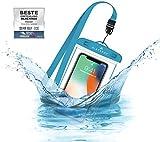 BLACKROX wasserdichte Handyhülle - Handyschutz Wasserfeste Handytasche Cover Beutel Beachbag Tasche Handy Hülle Waterproof Hülle iPhone X/XS 8 7 6s Samsung S10 S9 S8 S7 (Blau)