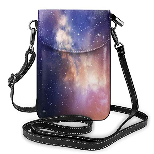 Vrouwen Small Cell Phone Purse Crossbody, Stars In Sky Supernova Comet Constellation Universe Meteor Planetary Image