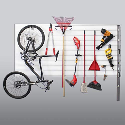 Proslat 88102 Heavy Duty PVC Slatwall Garage Organizer, 8-Feet by 4-Feet Section, White