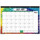 2021-2022 Desk Calendar - Desk Calendar 2021-2022 with Notes Content & Julian Date, Jul 2021 - Dec 2022, 16.8' x 12', Thick paper with Six Different Patterns