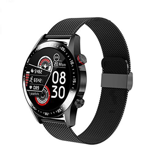 KKZ E Nuevo E12 Smart Watch Men's Bluetooth Llamar a Smart Watch Women's Impermeable Fitness Tracker,A