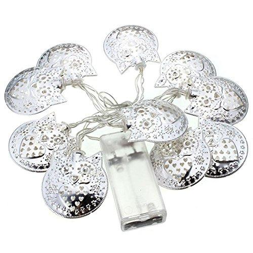 Guirnalda de 10 luces LED con forma de hada, 1 m, para decoración navideña en la ventana