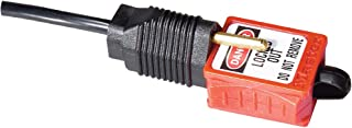 Master Lock S2005 Lockout Tagout Compact Electrical Prong Plug Lockout, 110 - 120 Volts, Red