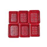 Odoria 1/12 Miniatur 6 Stück Rot Supermarkt Warenkorb 3 Größe Für Puppenhaus Küchen