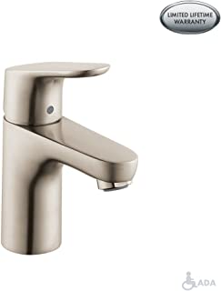 hansgrohe Focus Modern 1-Handle 7-inch Tall Bathroom Sink Faucet in Brushed Nickel, 04371820