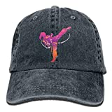 Hoswee Unisexo Gorras de béisbol/Sombrero, Karate Girl Denim Hat Adjustable Mens Casual...