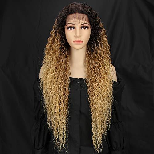 Style Icon perruques Lace Front Wigs Synthetique 71cm Longue Perruque Bouclée Devant En Dentelle Perruque Pour Femmes Fibres Résistantes À La Chaleur