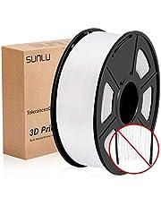 Filamento per stampante 3D SUNLU PLA Plus 1.75 mm, Precisione dimensionale a basso odore +/- 0,02 mm, bobina da 2,2 LBS (1 KG) per stampanti 3D e penne