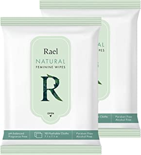Sponsored Ad - Rael Feminine Wipes with Natural Ingredients, use Day or Night, flushable, pH-Balanced, Gentle and Safe on ...